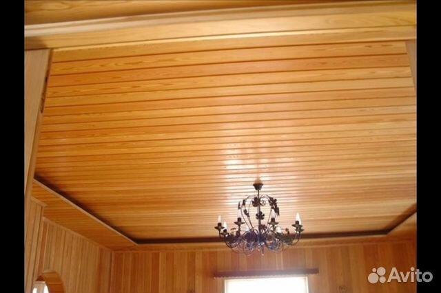 Потолок из деревянной вагонки своими руками