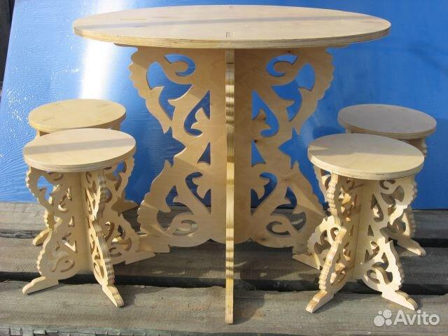 Круглый стол из фанеры на кухню своими руками