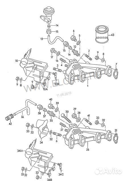 коллектор Audi 100 volkswa