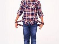 Брюки джинсовые утепленные рост 164 новые