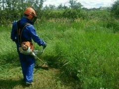 Вспашка земли, покос травы