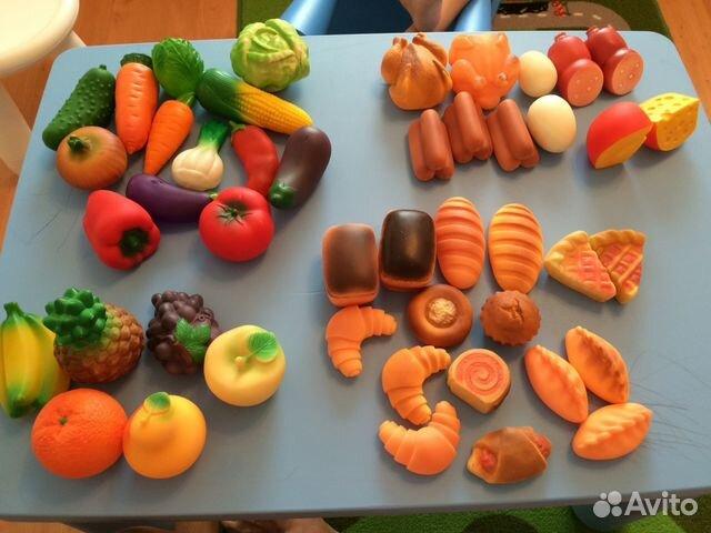 Набор фруктов овощей выпечки продуктов Огонек