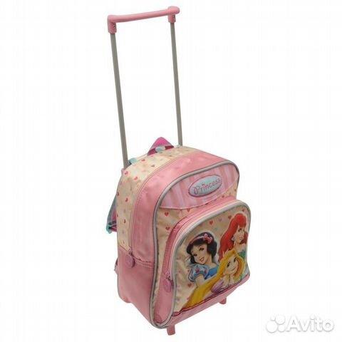 5a39cfde313c Детский чемодан-рюкзак принцессы Дисней сатин | Festima.Ru ...