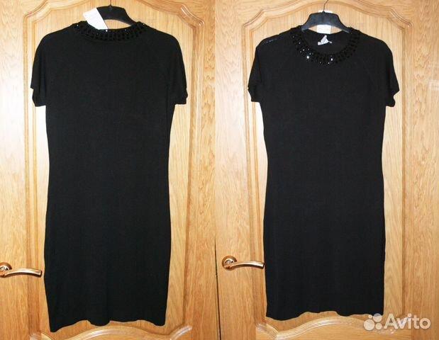 Новое маленькое черное платье с камнями р.48-50  57a7263d96d13