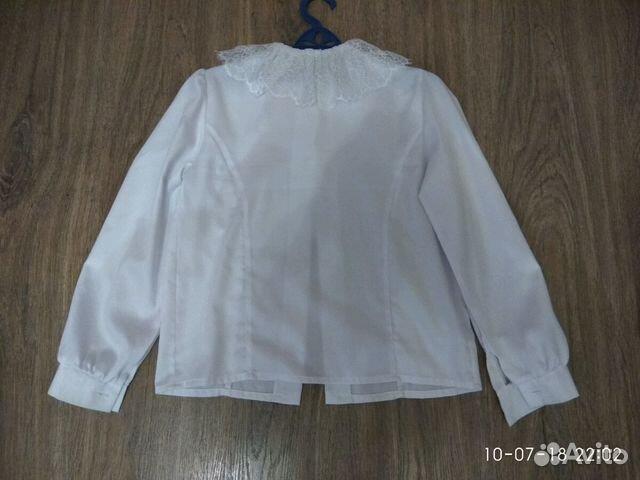 5c3d0618dd9 Блузка белая школьная р.146 купить в Нижегородской области на Avito ...