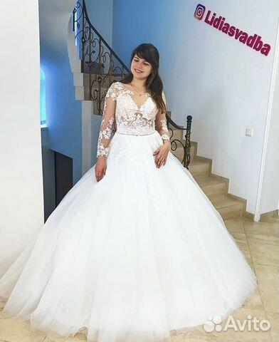 e460a9a06e7 Новое свадебное платье со шлейфом