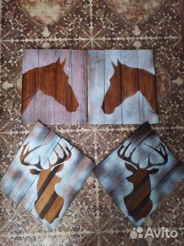 Картины из шпона дальневосточной шпалы