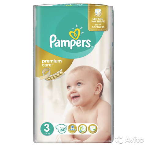 Подгузники Pampers Premium Care 3 размер (5-9 кг)   Festima.Ru ... 7cc0fc00daa