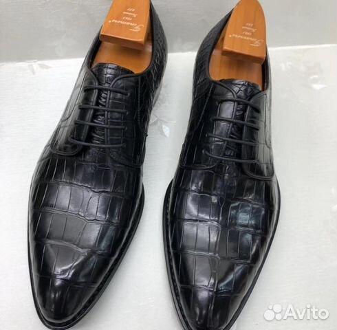 5acb1cb2f7f6 Туфли мужские, классические, из брюха крокодила   Festima.Ru ...