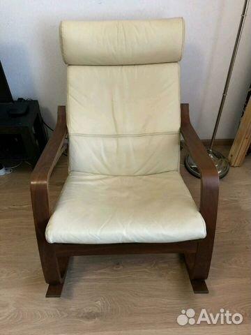 кожаное кресло качалка Ikea купить в санкт петербурге на Avito
