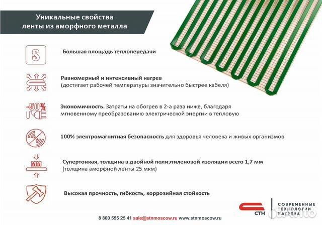 Теплый пол стн City Heat 150 Вт/кв.м, 1.5х1 м 89024147867 купить 5