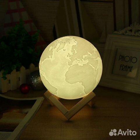 84942303606 Лампа-ночник moooon: Планета Земля с пультом
