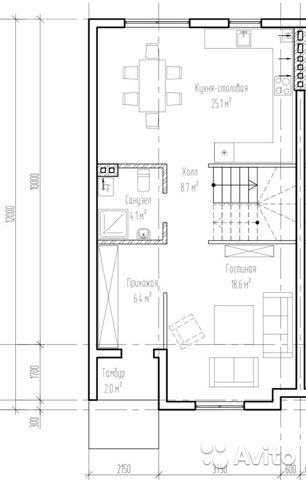 Таунхаус 170 м² на участке 3 сот. 89062113021 купить 3