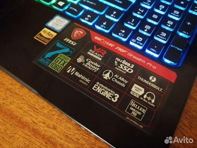 GS63VR 7RF - i7 7700,GTX 1060,16GB, M.2+HDD  89608550441 купить 4