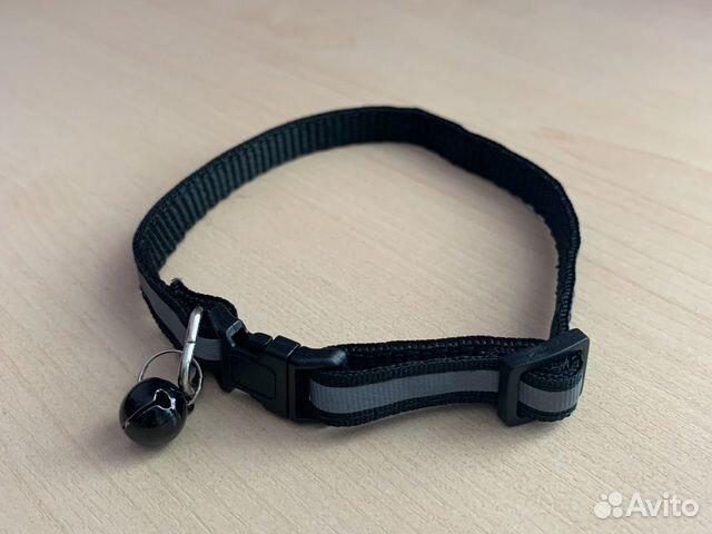 Ошейник черный, светоотражающий  89519846706 купить 1