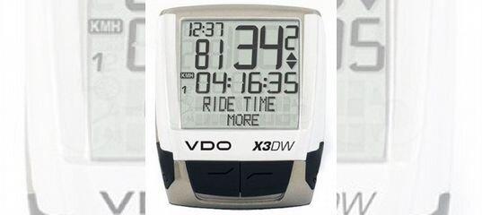 Велокомпьютер VDO X3 DW с каденсом