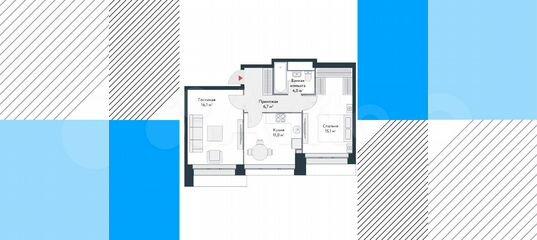 2-к квартира, 52.9 м², 14/15 эт. в Москве   Покупка и аренда квартир   Авито