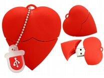 Флешка Сердце, 16 Gb