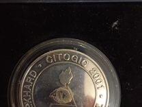 Серебряная монета коллекционная 960 проба 37 гр