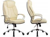 Кресло руководителя LK-12 Ch №720 бежевая кожа