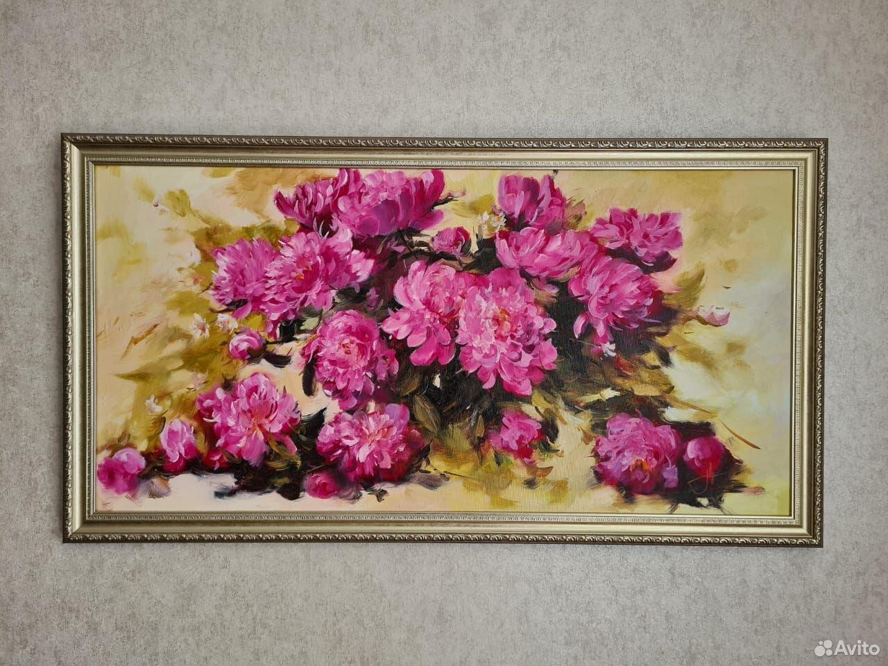Картина пионы  89214333668 купить 2