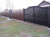 Забор из профнастила (2 метра) RAL 8047