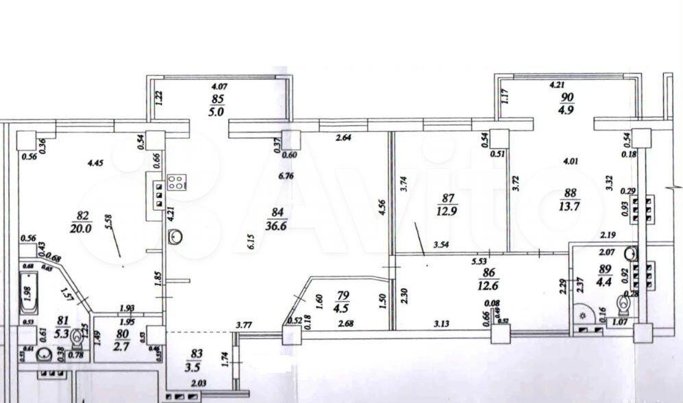3-к квартира, 129 м², 7/16 эт.  89171436712 купить 7