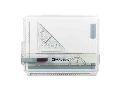 Доска чертежная Brauberg А4, 370х295 мм, с рейсшиной и треугольником (210535)