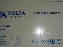 Акб AGM Volta 40ач