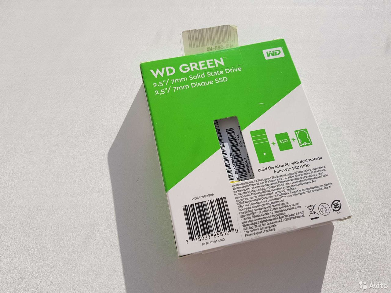 Новый 480 гб SSD2.5 WD Green
