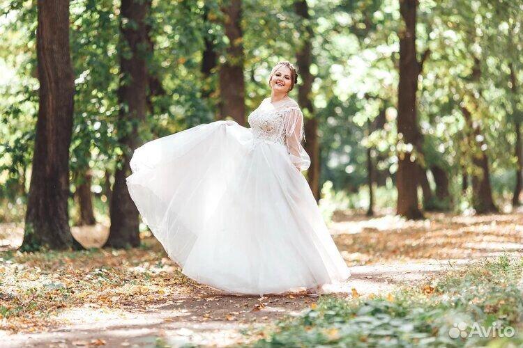 Платье свадебное 48-50 размер  89204772286 купить 6