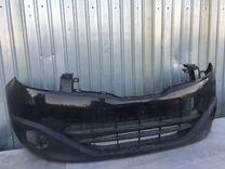 Бампер передний Nissan Qashqai 2010 рест чёрный