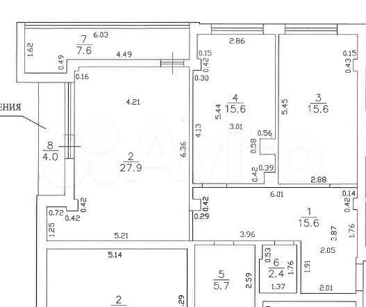2-к квартира, 94.5 м², 3/6 эт.  89062356196 купить 6