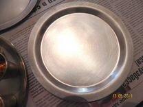 Набор стопок и блюдец из мельхиора