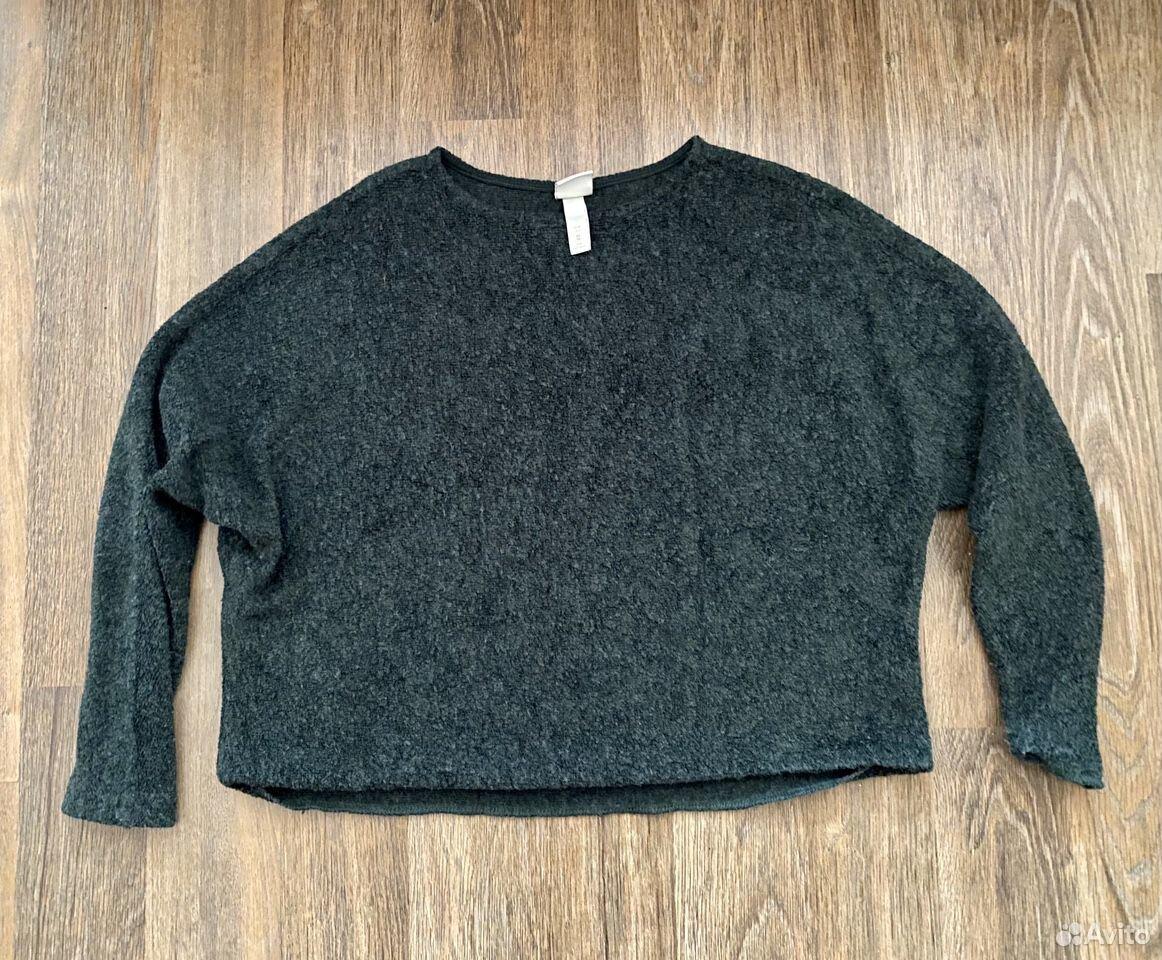 Кофта H&M темно-зеленая свободного кроя  89811802495 купить 1